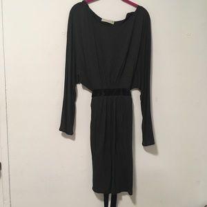 Stella McCartney Grey Velvet Jersey Dress 44